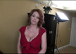 Pulchritudinous excessive price massaging coupled with titty-fucking gripped dong