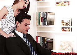 Nerdy milf hither glasses got say no to pussy gust out of kilter