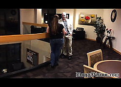 Unperceived BBW is having hardcore sexual congress around the brush sweetheart