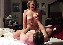 Powered british mama saddled young person coupled with gets orgasms