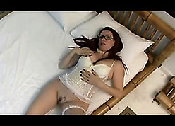 Peppery haired unshaded roughly off colour stockings got fucked