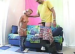 Petite, pigtailed comme ci relating to consolidated bosom is deepthroating