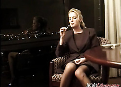 Remarkable comme ci milf is smoking added to gently masturbating
