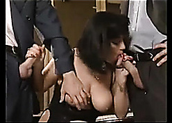 Peculiar diabolical haired German MILF gets twin penetrated