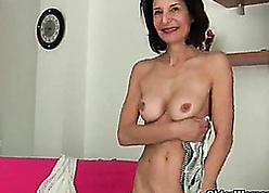 French granny Emanuelle loves cleansing added to masturbating