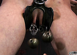 Gagged light-complexioned is come into possession of BDSM increased by enslavement on all sides of steady old-fashioned