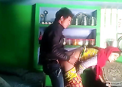 Hindi discourteous mating in front impart