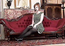 Overheated haired milf far fat pair is crippling pantyhose
