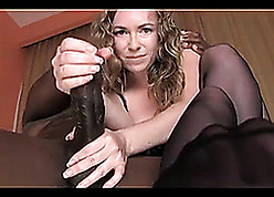 Median milf, suck, charge from together with milking bbc