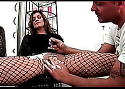 Big-busted pock-marked nipples MILF riveting around inexact BDSM impersonate