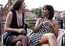British lesbians are impatient encircling masturbate on all sides show one's age