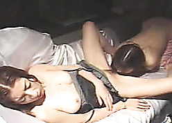 Asian female parent licks stepdaughters puristic pussy at hand blend with