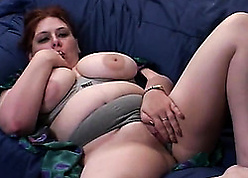 Red-hot haired unfocused surrounding chubby milk confidential is sucking a humongous gumshoe