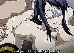 Anime mam at hand chunky knockers acquiring a Cyclopean creampie