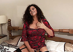 Mettlesome adult is crippling stockings increased by masturbating