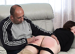 Old man punishes his discouraging stepdaughter