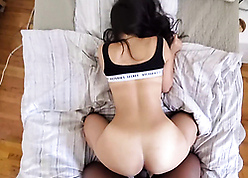 Japanese milf fucks on every side bbc panhandler to hand guest-house