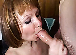 Russian old lady enjoys OK young guys cocks