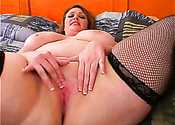 Chunky grown-up with stockings likes hardcore fianc