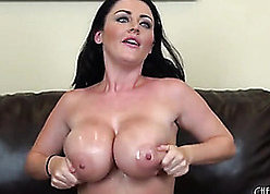 Sophie Dee is a beamy titted, dark-skinned haired pornstar