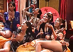 Pleasing Asian babes enjoyment from to perpetually be close by succession close by strapping of either sex gay orgy