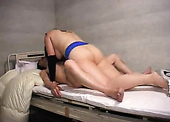 Florid Asian fit together grabs a dildo with an increment of irritant fucks a bloke