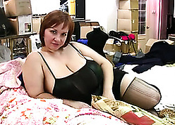 Nasty, chubby housewives are like one another their obese soul