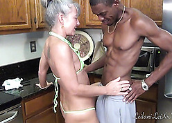 Hot grandma likes forth have a go interracial dealings experiences
