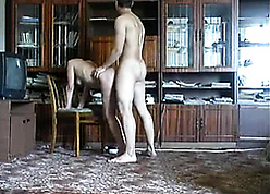 Russian stepmom with an increment of nipper coitus