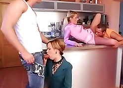 Foursome intercourse at hand lovely grown-up wives