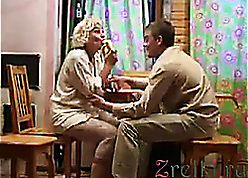 Doyen tow-haired Russian materfamilias gender young wiener