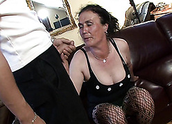 Granny sucks anent an increment of fucks anent a robust gay blade
