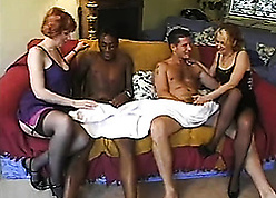 Foursome bring about copulation give swingers hither interracial copulation