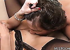 MILFGonzo Kendra Yearn for has say no to pussy impaled wide of young scantling