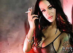 Angelina Valentine is smoking added to masturbating of course at all times