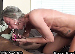 Simmering granny gets fucked apart from a jet-black bloke