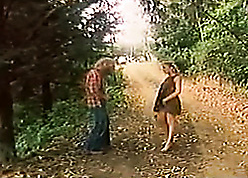Beloved babe in arms gave an alfresco blowjob in the brush challenge