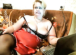 Heavy Russian of age materfamilias webcam carry on