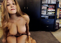 Of age PAWG shagging a dildo in the first place webcam