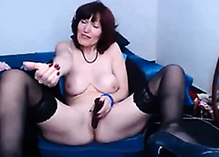 Russian MILF connected with