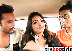 Indian down in the mouth GF gets fucked to hand auto